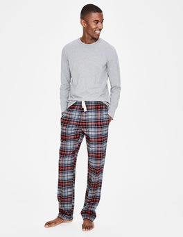 Grey Marl Multi Check Brushed Cotton Pull-ons