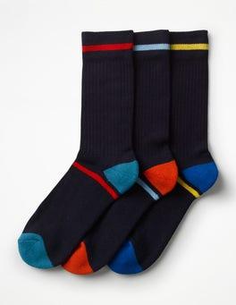 Plain Navy Pack Chunky Weekend Socks