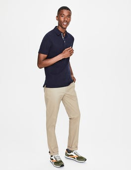 Navy Casual Piqué Polo