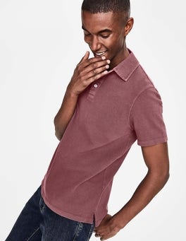 Washed Aubergine Casual Piqué Polo