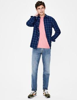 Heavy Wash Denim Slim Leg Jeans