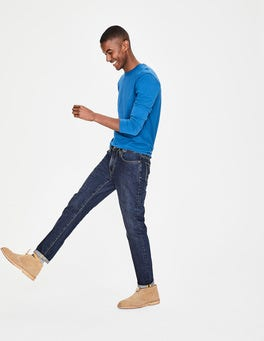 Mid Wash Denim Slim Leg Jeans