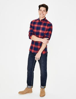 Blazer Red Marl Check Lightweight Flannel Shirt