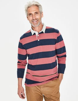 Washed Berry Multi Stripe Hamersley Rugby Shirt