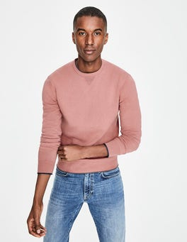 Washed Berry Cotton Cashmere Crew Neck