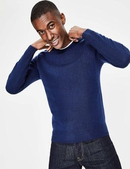 Bright Navy Cashmere Crew Neck