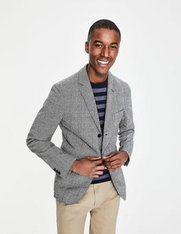 Prince of Wales Check Unstructured Casual Blazer