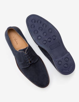 Navy Suede Corby Derby Shoes