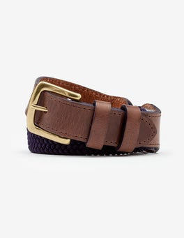 Navy Webbing Belt