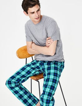 Green Multi Check Cotton Poplin Pull-ons