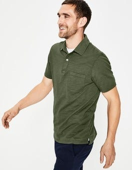 Pine Green Slub Polo