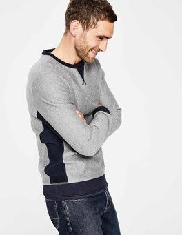 Dark Grey Marl Colourblock Conrad Sweatshirt