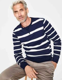 Navy/Ivory Hotchpotch Stripe Conrad Sweatshirt