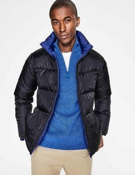 Midnight Navy Reversible Down Puffer