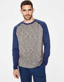 Charcoal/Sandown Blue Long Sleeve Slub Raglan