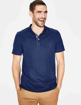 Navy Blue Piqué Polo