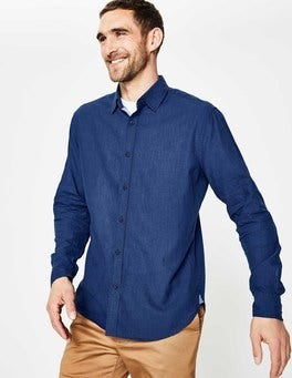 Deep Navy Linen Cotton Shirt