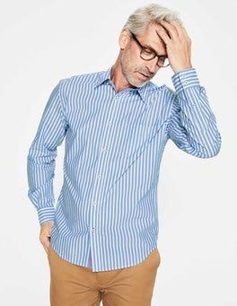 Seascape Stripe Poplin Pattern Shirt