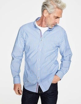 Seascape Stripe Slim Fit Poplin Pattern Shirt