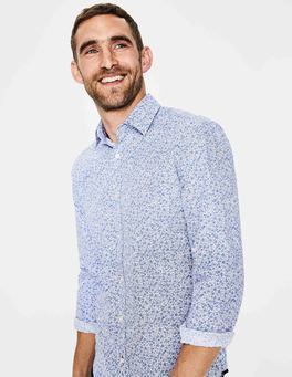 Blues Ditsy Floral Floral Printed Shirt