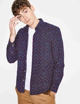 Navy Garden Floral Floral Printed Shirt