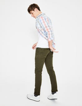 Pine Green Lightweight Slim Chinos