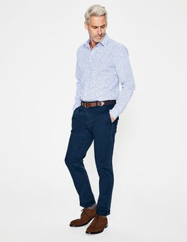 School Navy Lightweight Slim Chinos