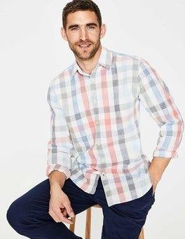 Weekend Multi Gingham Linen Cotton Pattern Shirt