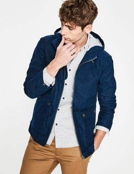 Navy Blue Highbury Waxed Jacket