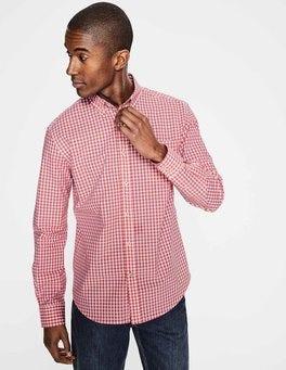 Rosette Pink Gingham Casual Poplin Shirt