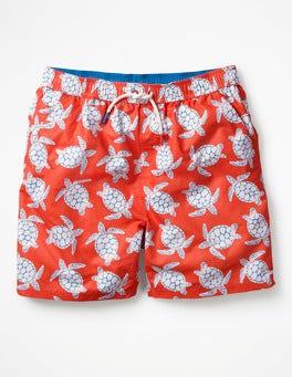 Orange Turtles Swimshorts