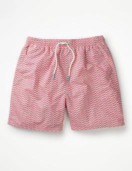 Géométrique Rose Panama Short de bain