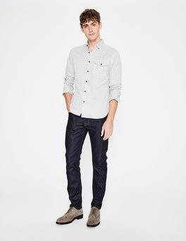 Dark Rinse Denim Slim Leg Jeans