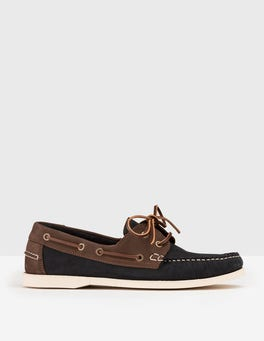 Navy/ Brown Boat Shoe