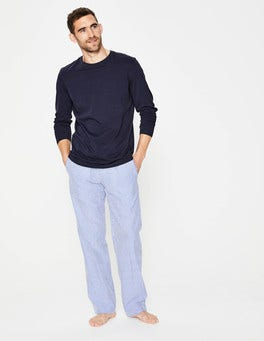 Blue Seersucker Cotton Poplin Pull-ons