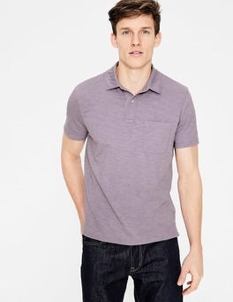 Washed Lavender Slub Polo