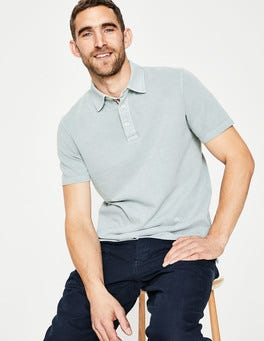 Washed Mint Casual Piqué Polo