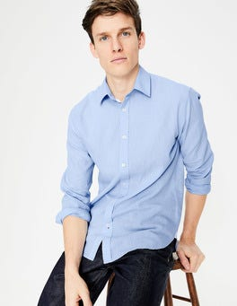 Ice Blue Linen Cotton Shirt
