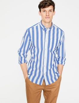 Blue Bottle Candy Stripe Casual Poplin Shirt