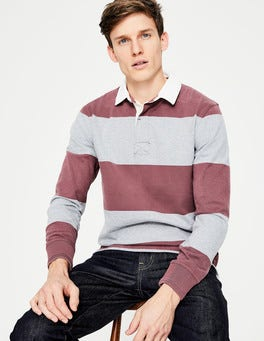 Washed Aubergine Stripe Lindon Rugby Shirt