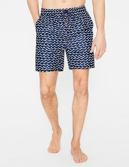 Navy Blue Wave Swimshorts