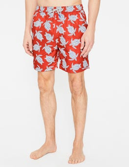 Orange Turtles Swimshorts