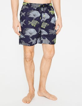 Navy Fish Swimshorts