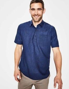 Deep Navy Linen Cotton Popover