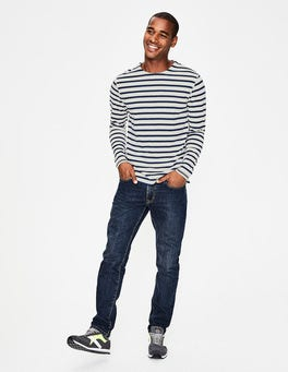 Navy Blue/Oatmeal Marl Stripe Chichester Mariner