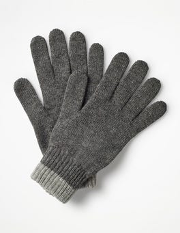 Grey Marl Cashmere Gloves