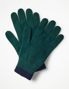 Dark Green Cashmere Gloves