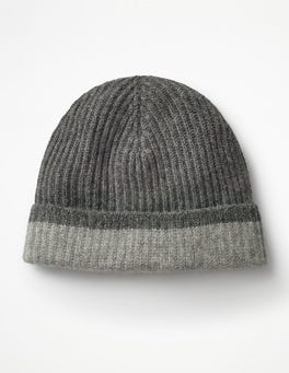 Grey Marl Cashmere Hat