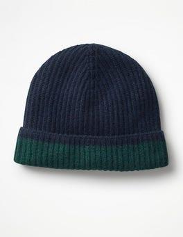 Navy Cashmere Hat