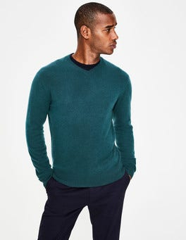 Forest Cashmere V-neck